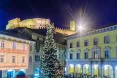Weihnachten in Bellinzona lizenzfreie stockfotos