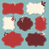 Weihnachten beschriftet Ansammlung Stockfotos