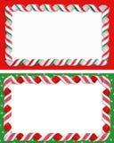 Weihnachten beschriftet Randleerzeichen   Stockbild