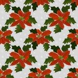 Weihnachten blüht nahtloses Muster stock abbildung