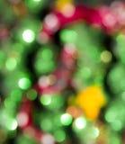Weihnachten-bokeh als Hintergrund Stockbild