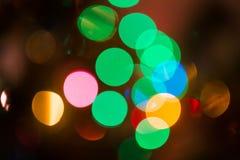 Weihnachten-bokeh Hintergrund Lizenzfreie Stockfotos