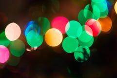 Weihnachten-bokeh Hintergrund Lizenzfreie Stockfotografie