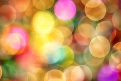 Weihnachten-Bokeh-Zusammenfassungs-Hintergrund Lizenzfreie Stockbilder