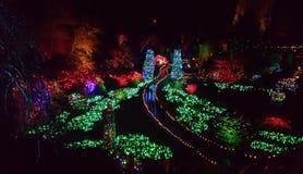Weihnachten in Buchart-Gärten, Victoria BC stockbild