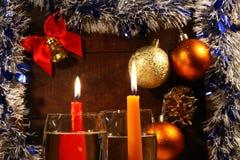 Weihnachten Champagne Stockbild