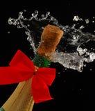 Weihnachten Champagne lizenzfreie stockbilder
