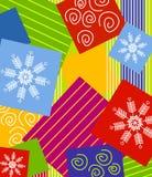 Weihnachten, das Hintergrund einwickelt Lizenzfreie Stockfotografie