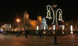 Weihnachten in Debrecen stockfoto