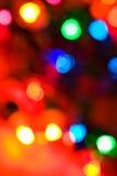 Weihnachten: Defocused, bunt, Feiertags-Weihnachtslichter Stockfotos