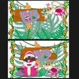 Weihnachten in den Dschungeln Stockfotografie
