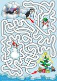 Weihnachten an den Pinguinen Stockfoto
