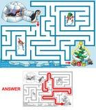Weihnachten an den Pinguinen Lizenzfreie Stockbilder