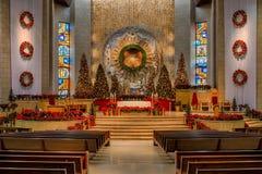 Weihnachten an der Basilika Lizenzfreies Stockbild