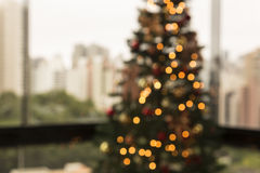Weihnachten in der Stadt Stockbild