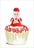 Weihnachten 3 des kleinen Kuchens vektor abbildung