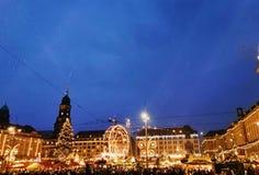 Weihnachten in Drezden lizenzfreies stockbild