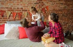 Weihnachten - ein Familienurlaub Stockfotografie