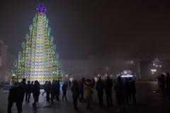 Weihnachten in einem Turin Stockfotografie