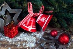 Weihnachten eingestellt mit Glocken Stockfotografie