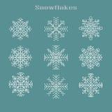 Weihnachten eingestellt mit snowflackes grafischen Elementen stock abbildung