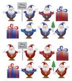 Weihnachten. Elemente für Auslegung. Stockfoto