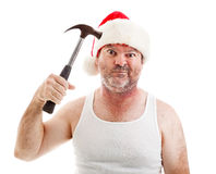 Weihnachten fährt mich verrückt stockfotografie
