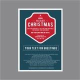 Weihnachten für Kartensatzthema Stockbild