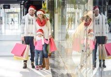 Weihnachten Family Stockfotografie