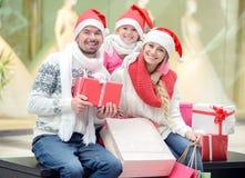 Weihnachten Family Stockbilder