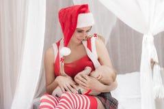 Weihnachten Family Stockfotos