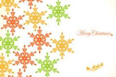 Weihnachten: Farbige Schneeflocken Stockfotos