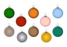 Weihnachten farbiges Bälle guten Rutsch ins Neue Jahr ENV 10 Vektor Lizenzfreie Stockfotos