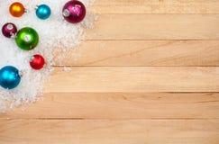 Weihnachten: Feiertags-Dekorations-Hintergrund Stockfotos
