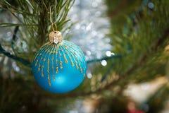 Weihnachten Feiertagsdekorationskiefer Stockbild