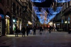 Weihnachten in Florenz Stockfotografie