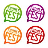 Weihnachten - Frohes Fest Buttons. Eps10 Vector illustration Stock Photography