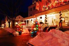 Weihnachten am Gasthaus Lizenzfreie Stockbilder