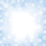 Weihnachten gefrorener Hintergrund mit Schneeflocken Lizenzfreies Stockbild