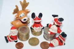 Weihnachten geld- die 13 Thgehalt stockfotografie