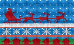 Weihnachten gestrickte Oberfläche Lizenzfreie Stockfotografie