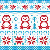 Weihnachten gestricktes Muster - scandynavian Strickjacke lizenzfreie abbildung