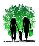 Weihnachten, glückliche Familie stock abbildung