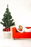 Weihnachten Gril Stockfotografie