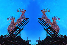 Weihnachten - helles Spiel - Rudolf Stockbild
