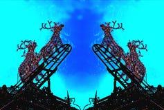 Weihnachten - helles Spiel - Rudolf Lizenzfreies Stockbild