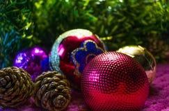 Weihnachten, Hintergrund des neuen Jahres Stockfoto