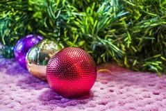 Weihnachten, Hintergrund des neuen Jahres Lizenzfreie Stockfotos