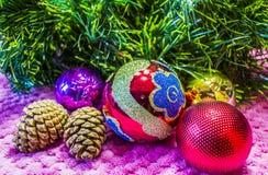 Weihnachten, Hintergrund des neuen Jahres Stockbild