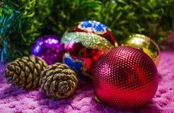 Weihnachten, Hintergrund des neuen Jahres Lizenzfreies Stockfoto
